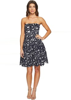 Bonded Mesh Flower Fit and Flare Dress