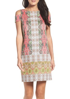 Maggy London Border Print Shift Dress