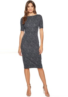 Maggy London Brushed Abstract Jacquard Sheath