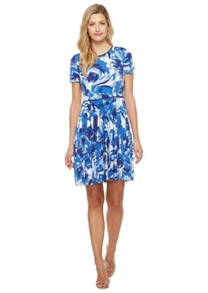Maggy London Brushed Bud Jersey Git & Flare Dress