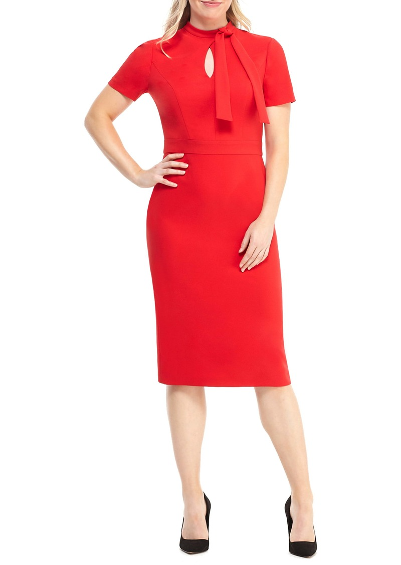 Maggy London Career Keyhole Bow Neck Dress