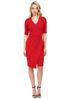 Maggy London Casablanca Crepe Sheath Dress with Elbow Sleeves