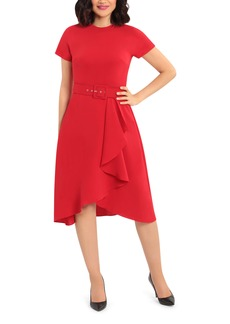 Maggy London Cascade Fit & Flare Dress