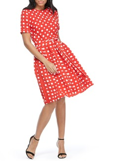 Maggy London Clarice Box-Dot Print Dress