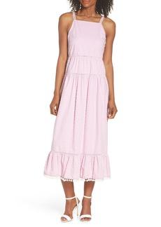 Maggy London Clip Dot Cotton Midi Dress