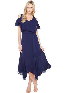 Maggy London Cold-Shoulder Blouson Dress
