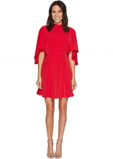 Maggy London Cold Shoulder Crepe Fit and Flare