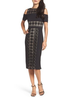 Maggy London Cold Shoulder Midi Dress