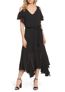 Maggy London Cold Shoulder Midi Dress (Regular & Petite)