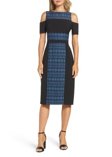 Maggy London Cold Shoulder Pencil Dress