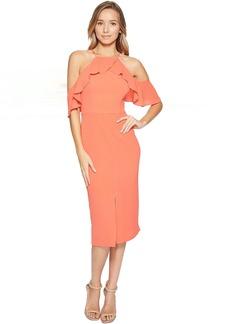 Maggy London Cold-Shoulder Ruffle Sheath Dress