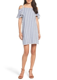 Maggy London Cold Shoulder Seersucker Dress