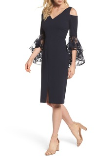 Maggy London Cold Shoulder Sheath Dress