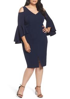 Maggy London Cold Shoulder Sheath Dress (Plus Size)