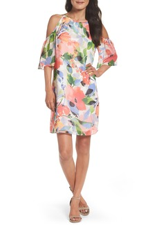 Maggy London Cold Shoulder Shift Dress