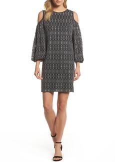 Maggy London Cold Shoulder Shift Dress