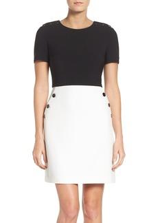 Maggy London Colorblock A-Line Dress (Regular & Petite)