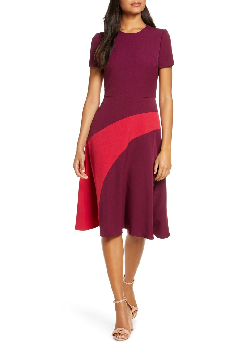 Maggy London Colorblock A-Line Dress