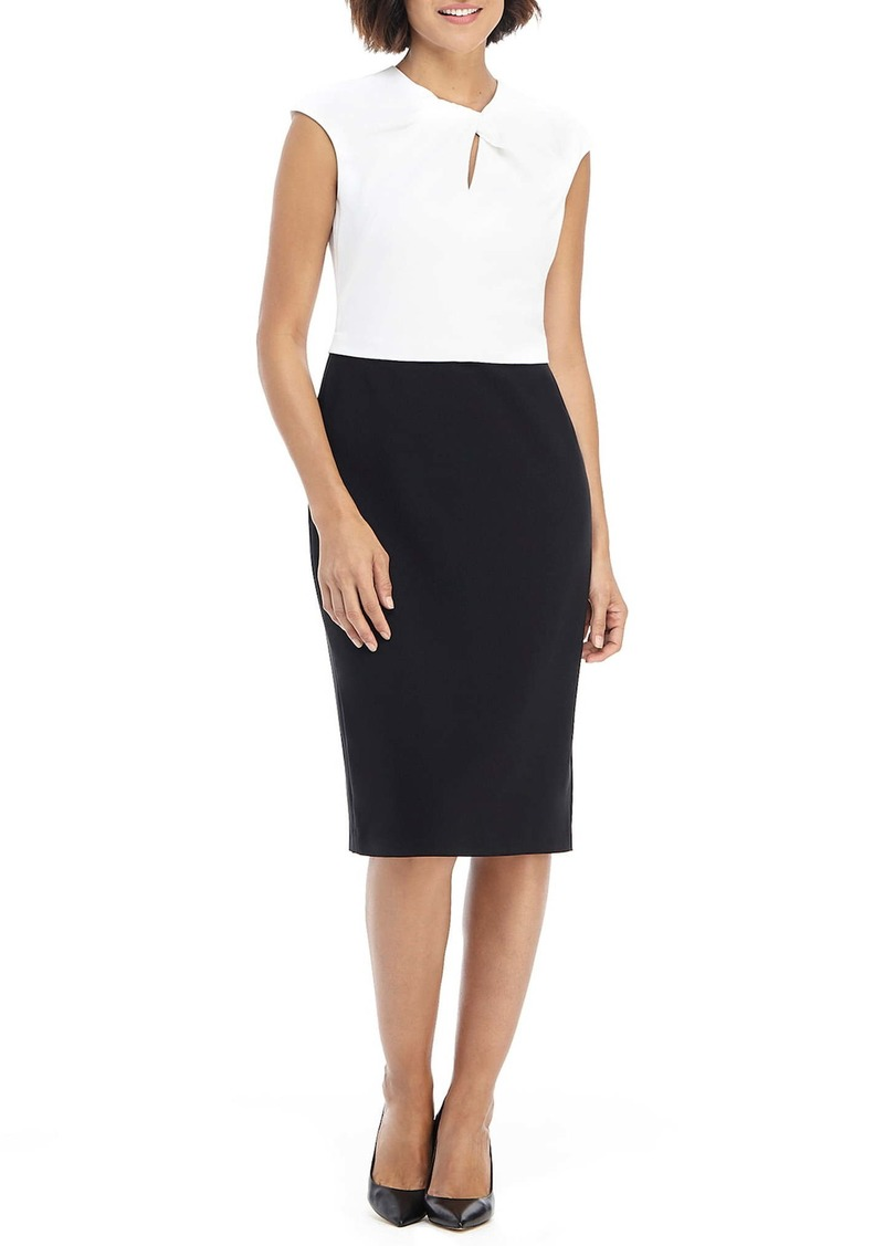 Maggy London Colorblock Sleeveless Sheath Dress