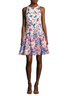 Maggy London Cotton Printed Fit & Flare Dress