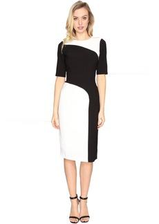Maggy London Crepe Color Block Sheath Dress