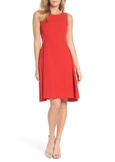 Maggy London Crepe Fit & Flare Dress (Regular & Petite)