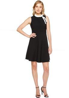 Maggy London Crepe Fit and Flare with Neck Tie