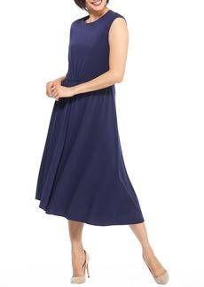 Maggy London Crystal Side Drape Crepe Midi Dress