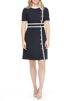 Maggy London Dorinda Button Trim Dress