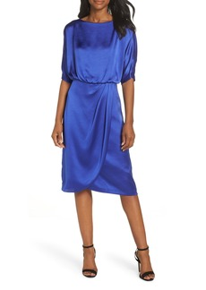 Maggy London Draped Blouson Dress (Regular & Petite)