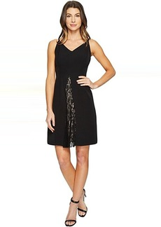 Maggy London Dream Crepe Fit and Flare Dress with Feminine Lace
