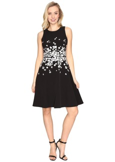 Maggy London Dream Crepe Fit and Flare w/ Embellishment Dress
