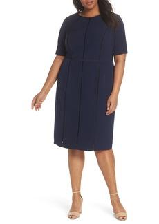 Maggy London Dream Crepe Sheath Dress (Plus Size)