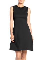 Maggy London Embellished Scuba Fit & Flare Dress (Regular & Petite)