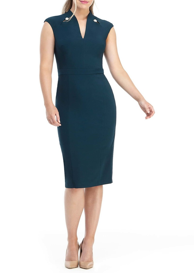 Maggy London Embellished Sheath Dress