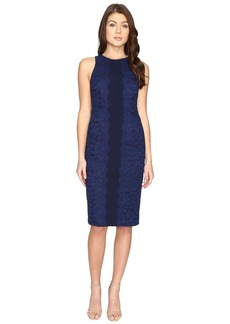 Maggy London Fan Leaf Lace Midi Dress