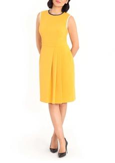Maggy London Faux Side Wrap Sheath Dress