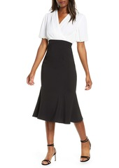 Maggy London Faux Two-Piece Dress