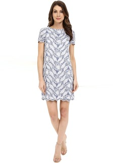 Maggy London Feather Scroll Lace Shift
