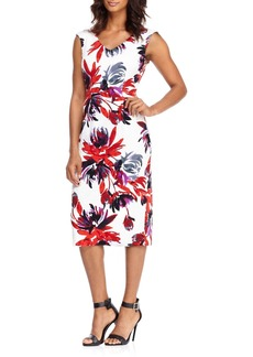 Maggy London Firework Garden Midi Dress
