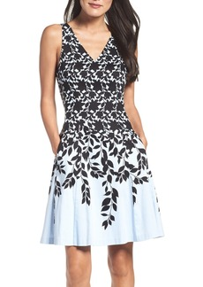 Maggy London Fit & Flare Dress (Regular & Petite)