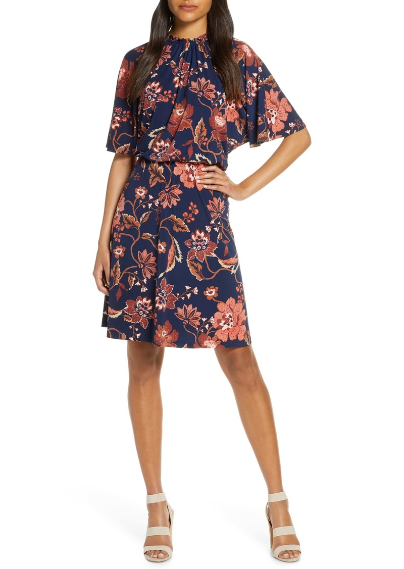 Maggy London Floral A-Line Dress