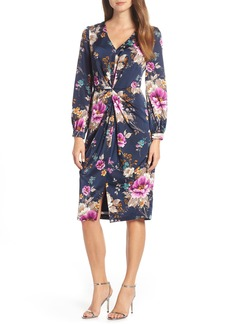 Maggy London Floral Charmeuse Dress (Regular & Petite)