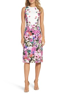 Maggy London Floral Garden Sheath Dress (Regular & Petite)