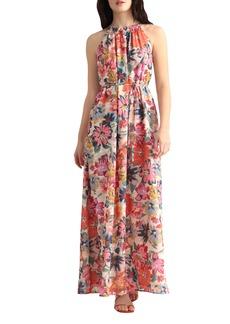 Maggy London Floral Halter Neck Dress