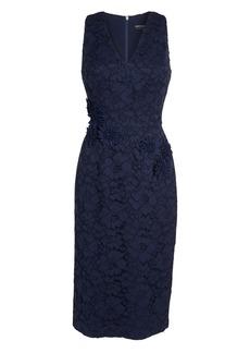 Maggy London Floral Lace Midi Dress