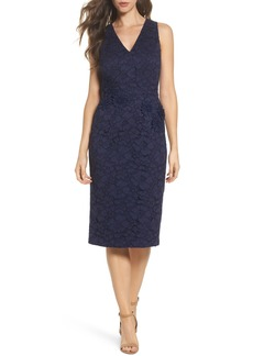 Maggy London Floral Lace Midi Dress (Regular & Petite)