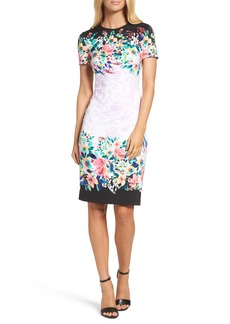 Maggy London Floral Print Scuba Dress
