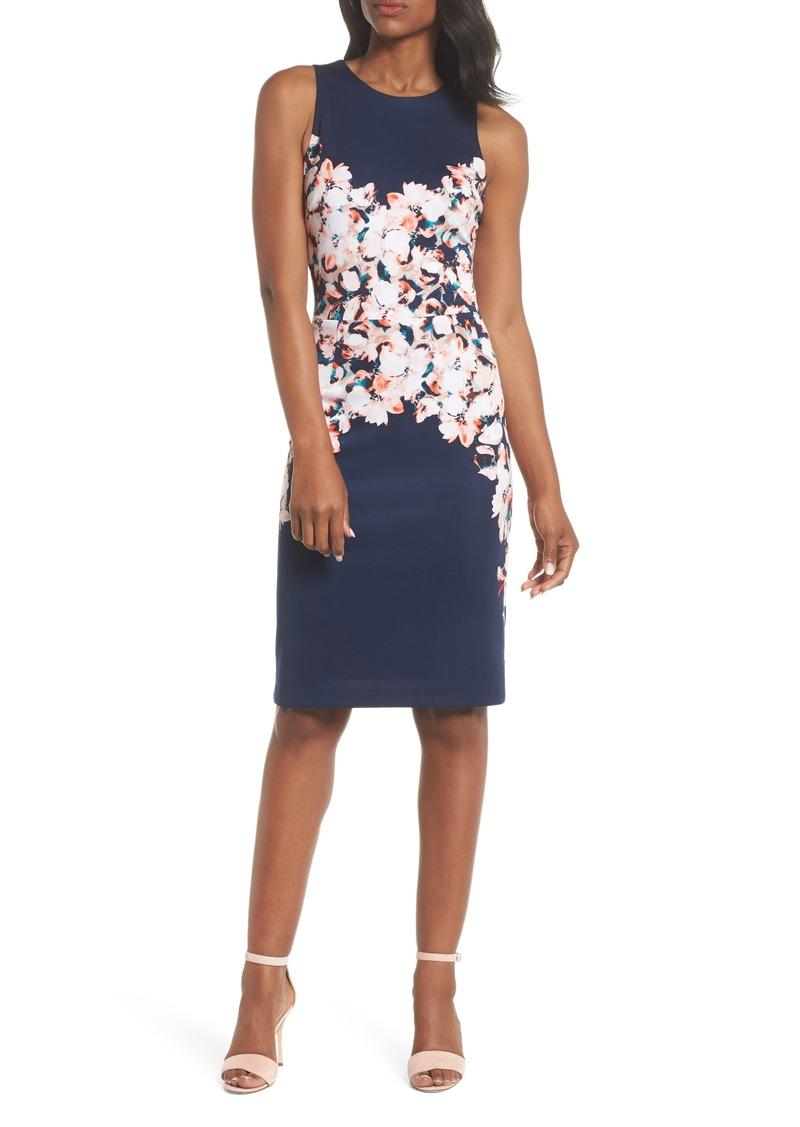 2591a8d8e1 Maggy London Maggy London Floral Scuba Sheath Dress (Regular ...