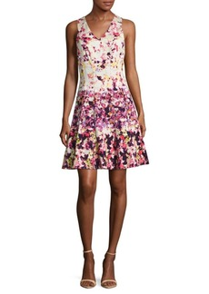 Maggy London Floral Zippered Dress